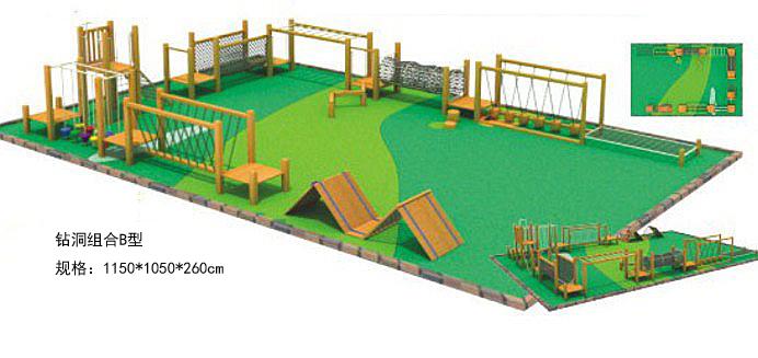 儿童钻洞v儿童幼儿园实木家具木质游乐设施虫二图片
