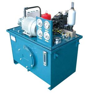 液压泵站的工作原理:电机带动油泵旋转图片