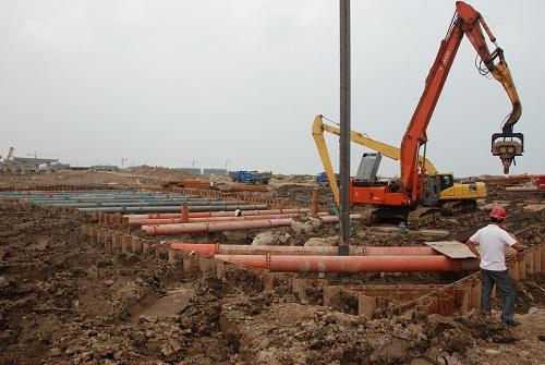 拉森桩钢板桩出租施工|深基坑支护