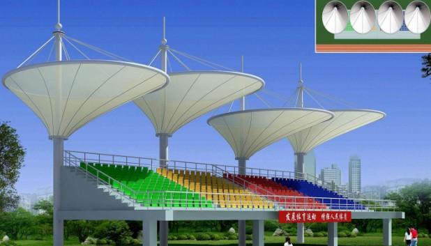膜结构体育看台工程设计及施工