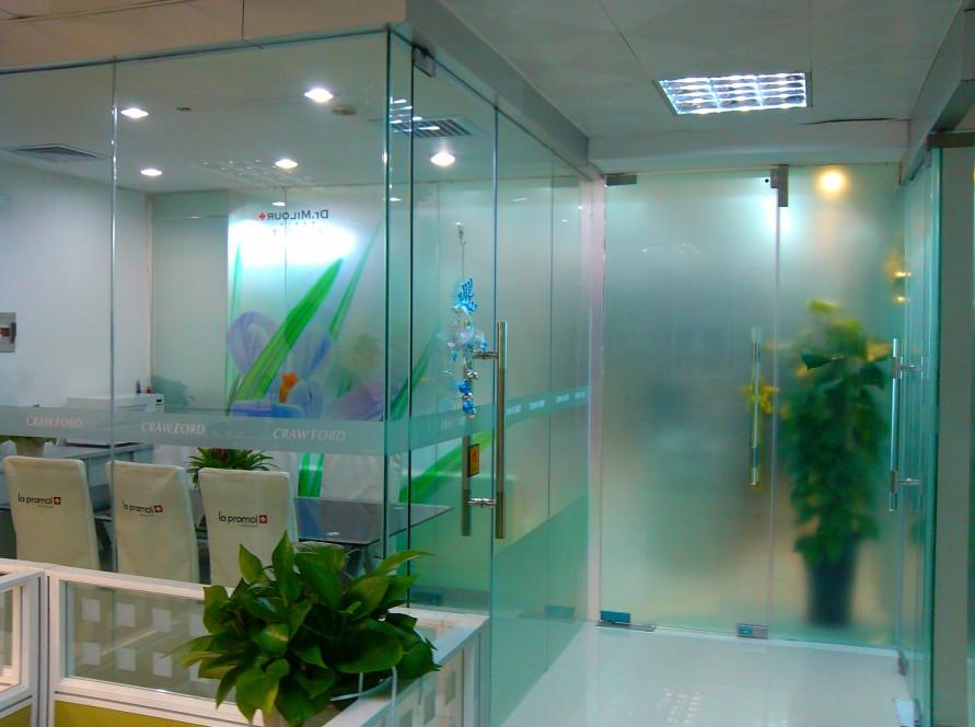 玻璃贴纸-玻璃防撞贴纸制作 玻璃门腰线定做-个性磨砂