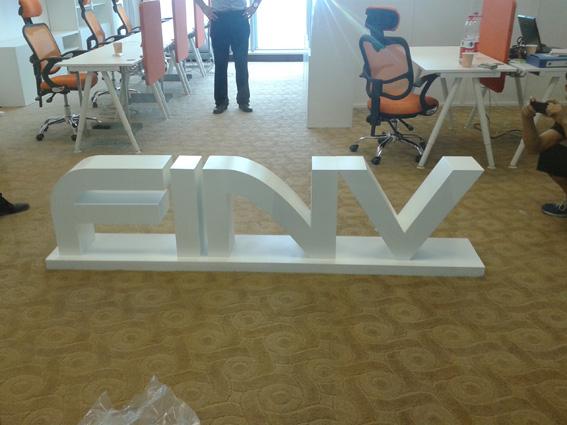广州企业形象墙招牌 办公室字体招牌制作图片