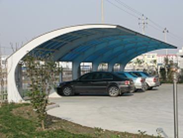 济南钢结构自行车棚 车棚图片