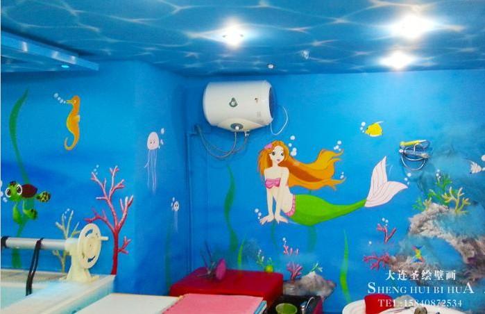 幼儿园墙画 卡通墙体彩绘 无毒无味材料呵护您供应详情  大连圣绘壁画