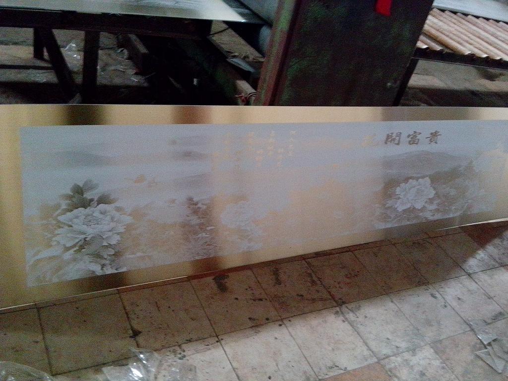 不锈钢门板装饰蚀刻花纹