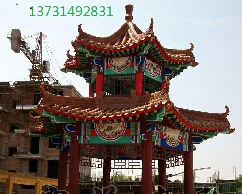 北京古建牌坊戏楼游廊仿古牌楼凉亭长廊古建筑亭子水榭设计施工图片
