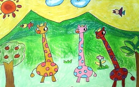 动物园儿童画图片
