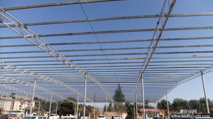 彩钢钢结构屋顶结构图