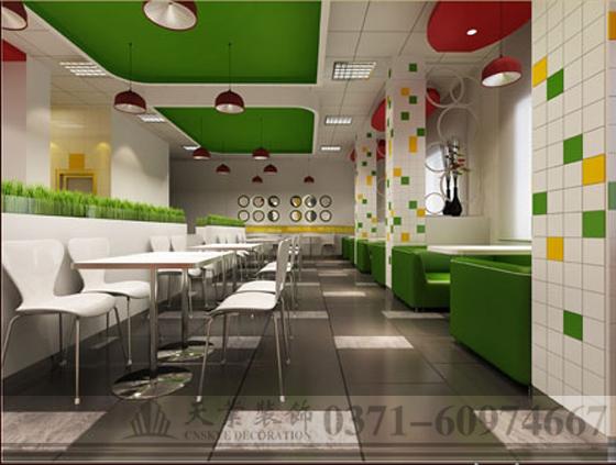 项目名称:郑州克罗克快餐店装修装修效果