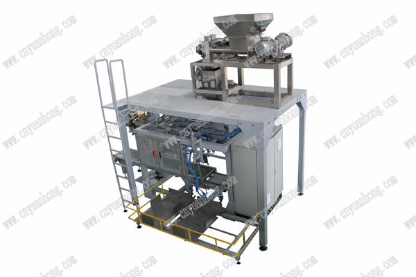 产品名称:给袋式液体包装机        主要性能和结构特点