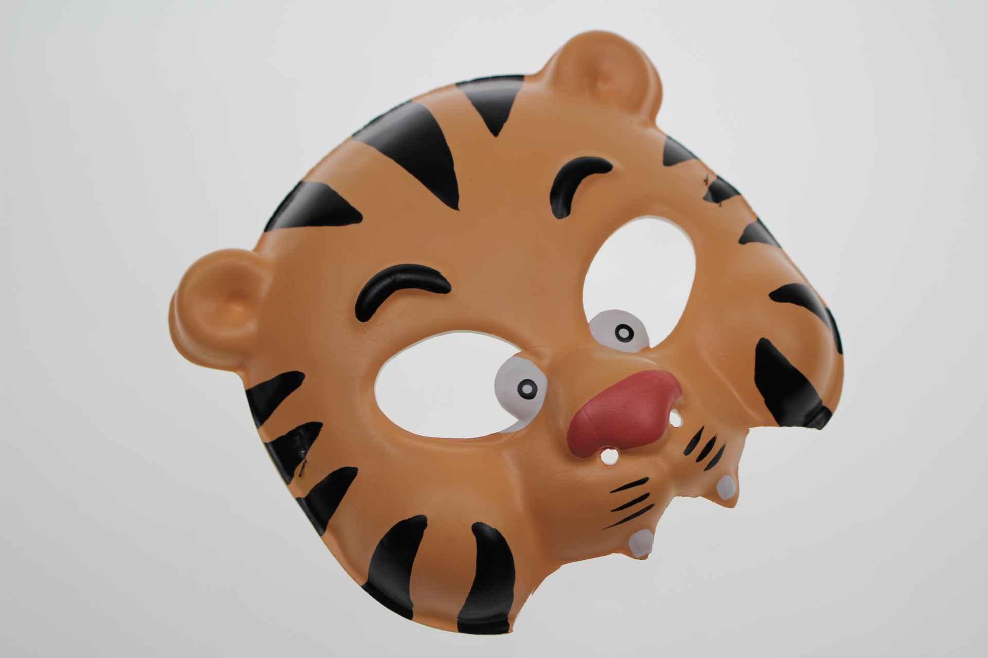 厂家直销批发定制 环保eva可爱老虎面具 卡通儿童可爱