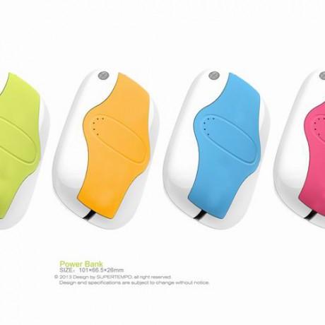 邓博士 内置线移动电源 三合一充电宝 流线造型圆滑手感