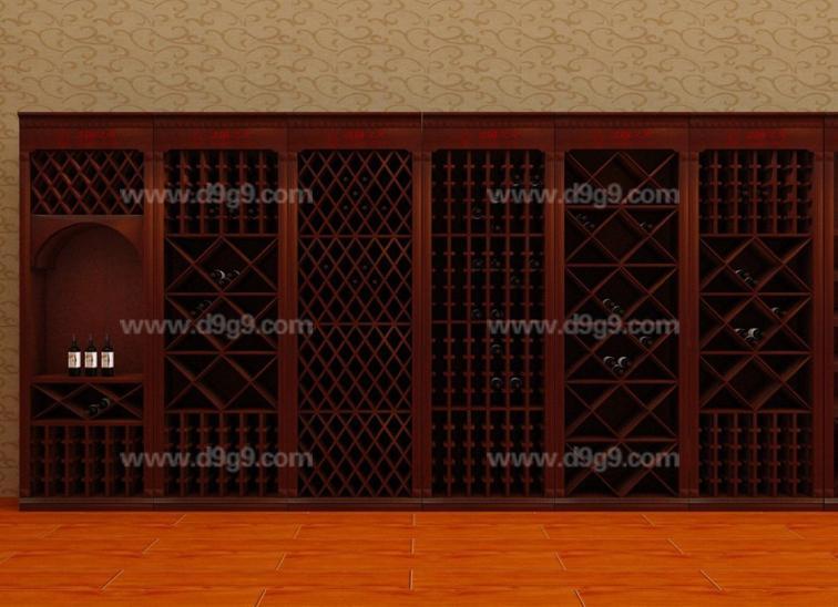 供应葡萄酒实木展示酒架设计