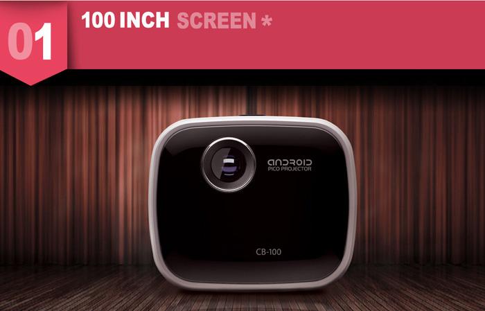 韩国icodis bc-100便携式无线智能微型高清投影仪图片
