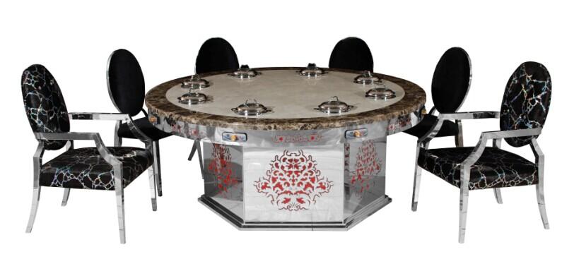 火锅电磁炉餐桌图片