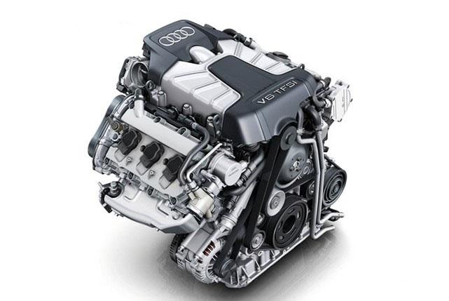 奥迪a4l发动机 涡轮增压 三元催化 排气管 高压包总成
