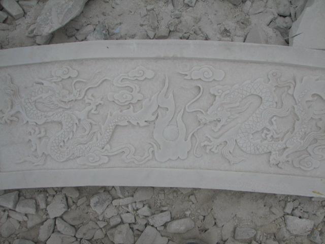 石雕设计制作可爱字体雕刻汉白玉栏板小桥石桥花纹整体音乐厂家精美浮雕设计图片图片
