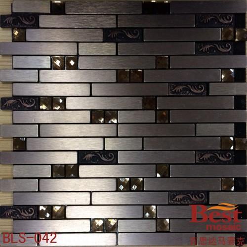 金属铝塑板 13面钻马赛克背景墙吧台自粘墙砖图片
