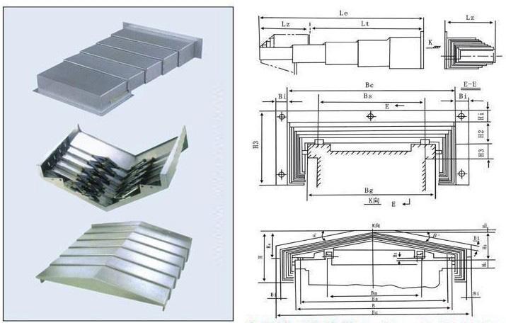 钢板防护罩装置使护罩同动且平行 避免了一般剪力