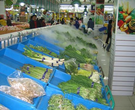 超市保鲜专用超声波喷雾加湿机