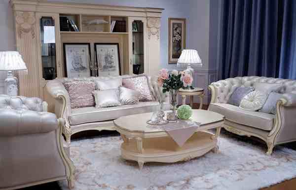 进口皮层客厅沙发,会所别墅客厅?#30340;?#23478;具组合,欧式古典皮制沙发
