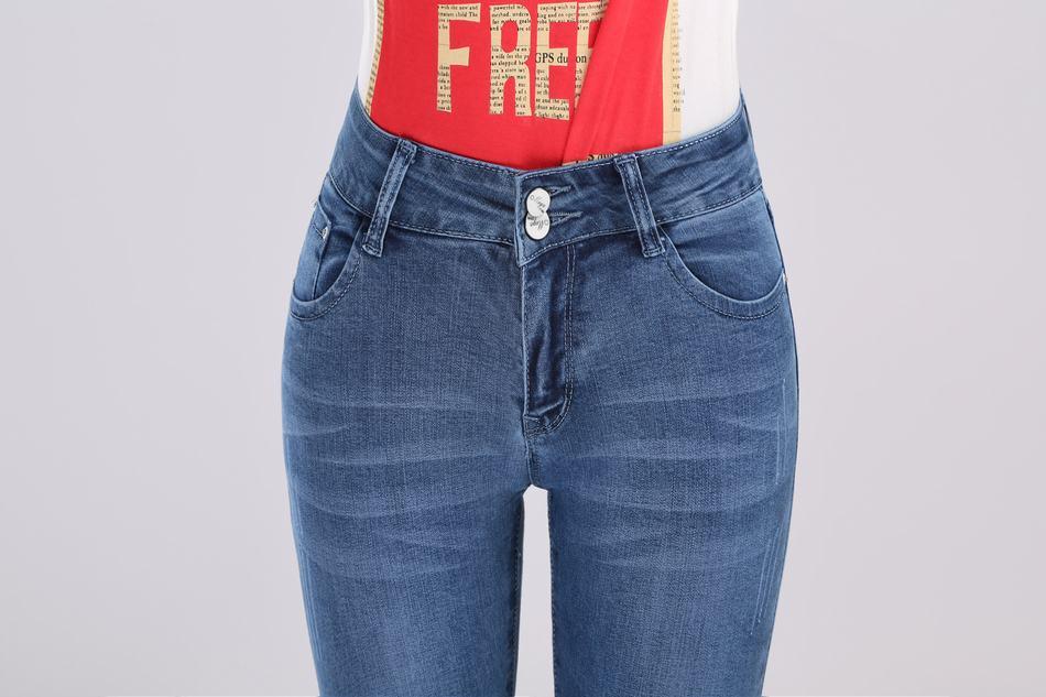 新款时尚潮流女士牛仔裤批发气质修身显瘦铅笔小脚裤图片