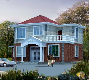 新农村100平方两层通风透气自建房屋全套设计图纸