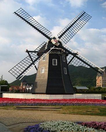 广州荷兰风车工程价格广州景观园林风车制造厂家