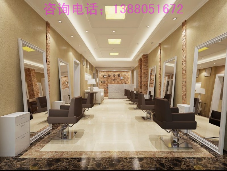 成都品牌美发店装修设计/高档美发店装修设计/专业发廊装修设计