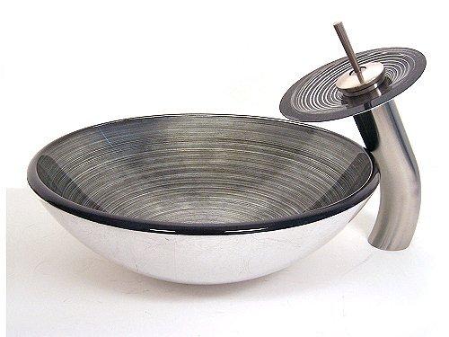 钢化玻璃洗手盆 艺术盆 手绘盆
