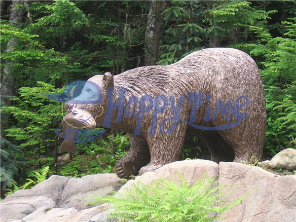 主题颜色爱马-动物企鹅,大象,雕塑,北极熊产品仕棕熊灰雕塑图片