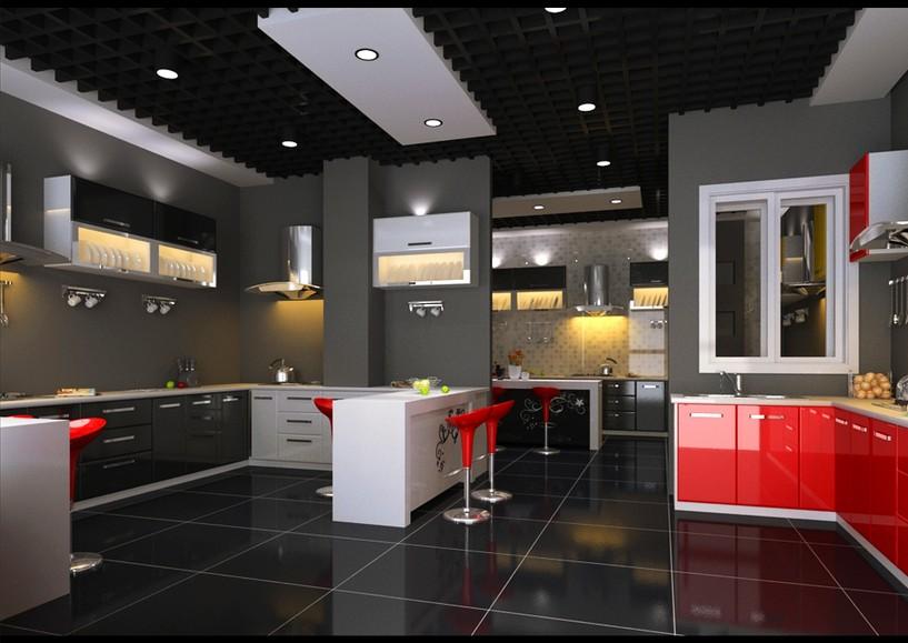 橱柜展厅设计中美的效应图片