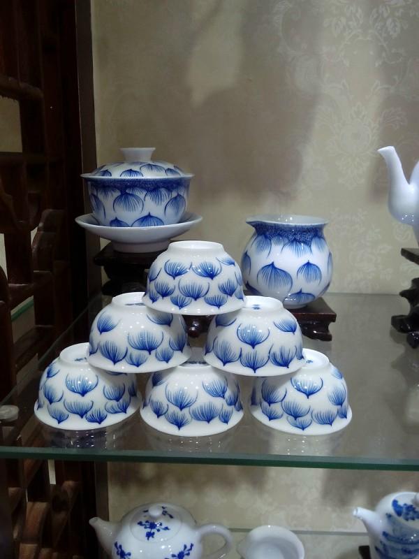 批发景德镇手绘陶瓷茶具功夫茶具定制青花瓷厂家