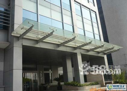 北京安装玻璃雨棚钢结构雨棚办公楼雨棚厂家
