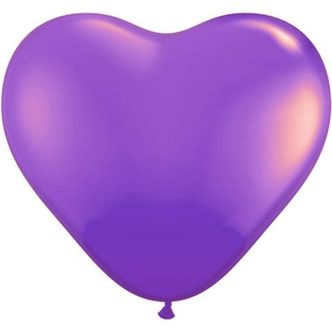 紫色心形气球卡通图片
