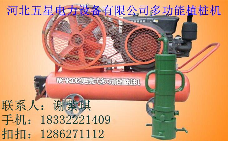 防汛抢险植桩机厂家【小型便携式气动打桩机价格】图片