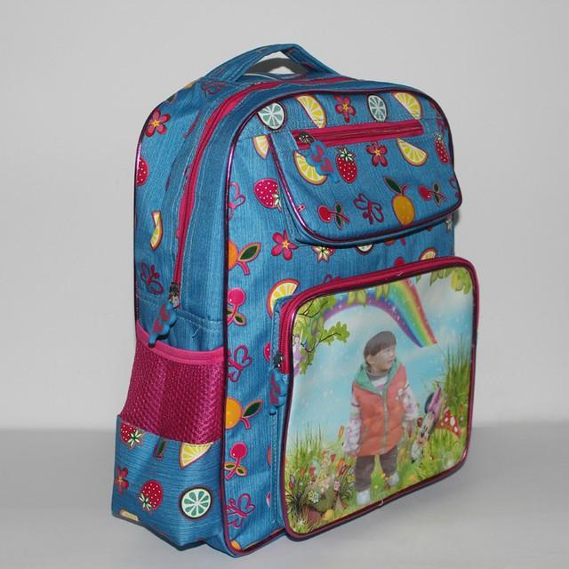 订做幼儿书包 照片书包厂家 影楼印相片书包定做图片