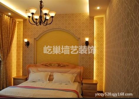 深圳硅藻泥床头背景墙装修