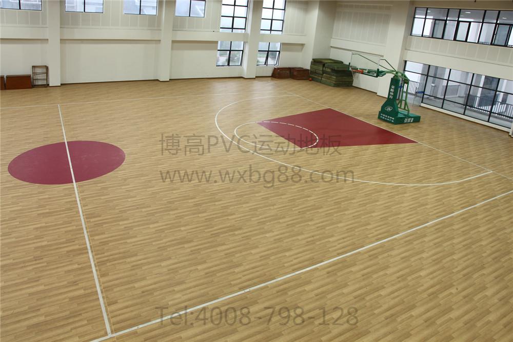 江苏博高室内球场塑胶运动地板,pvc篮球场地胶厂家