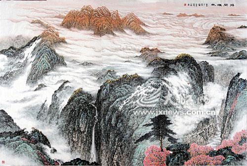 手绘陶瓷瓷板画 大厅装饰壁画 武汉专业定制