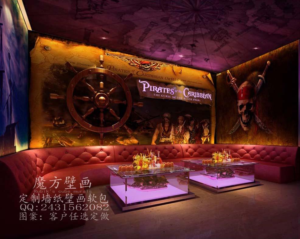 餐厅建筑墙纸 咖啡厅装修风景壁纸 客厅背景3d无缝壁画