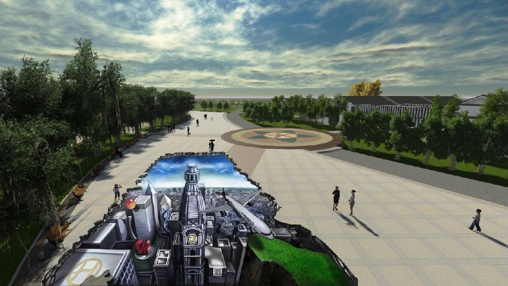 手绘3d立体画设计 3d壁画 重庆3d壁画别墅装