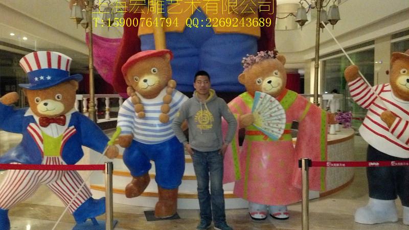 上海宏雕泡沫雕塑各种卡通动物人物雕塑