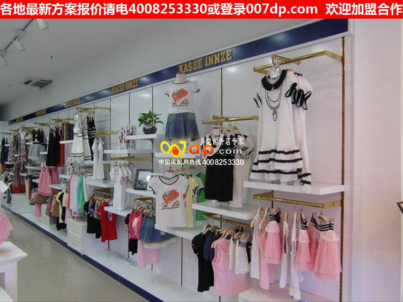 温州韩国童装店装修效果图 母婴童鞋货架展柜