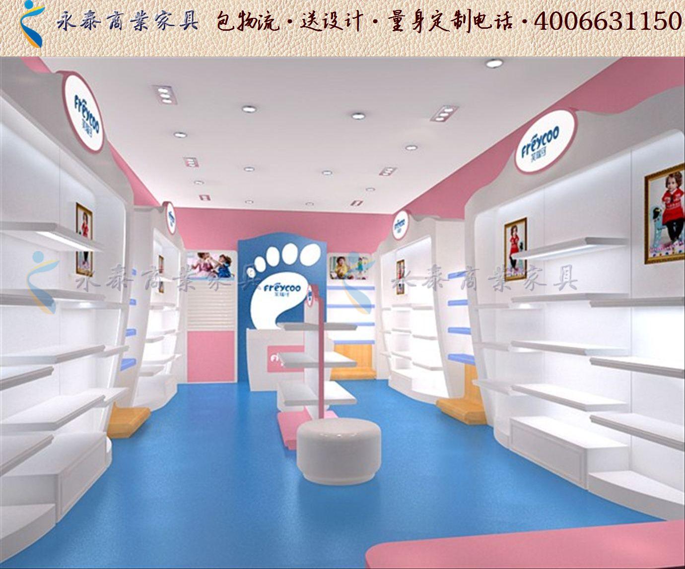 创意童装母婴店装修效果图大全个性母婴童装用品货架图片1214