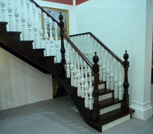 实木楼梯扶手整梯护栏踏步
