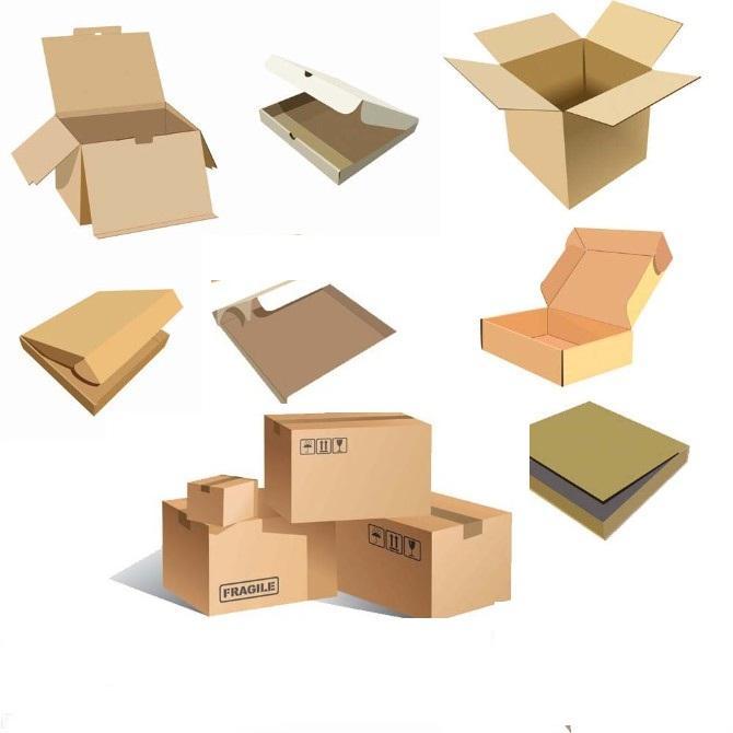 矢量图的纸箱展开图