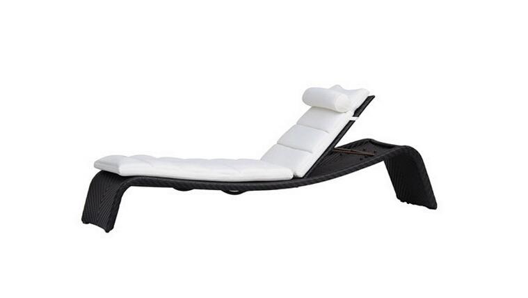 户外休闲躺床室外花园游泳池躺椅太阳床藤编躺椅露天沙滩床藤家具