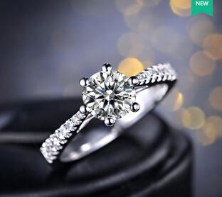 何以笙箫默同款剧中唐嫣饰赵默笙求婚戒指钻戒钻石女戒