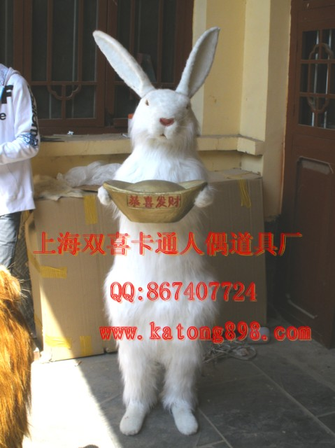 仿真雕塑模型,仿真动物模型,大型皮毛动物制作白兔
